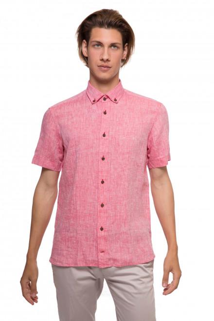 Рубашка мужская летняя красного цвета с коротким рукавом van Laack