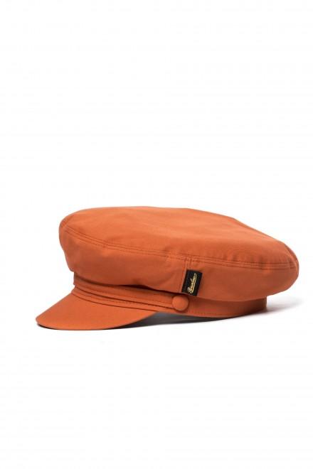 Кепка женская оранжевая с логотипом Borsalino