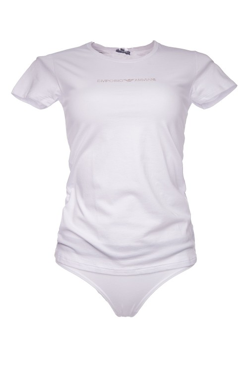 Футболка женская белая с логотипом Armani