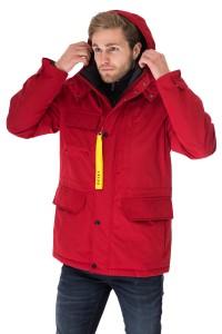 Куртка мужская зимняя красная короткая объемная Reset