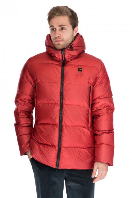 Куртка мужская (пуховик) с капюшоном на молнии короткая Blauer