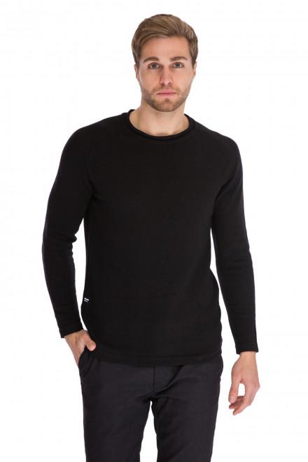 Пуловер мужской черный с логотипом Blauer