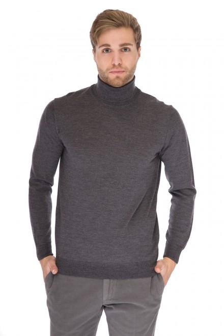 Пуловер мужской под горло темно-серого цвета Cadini