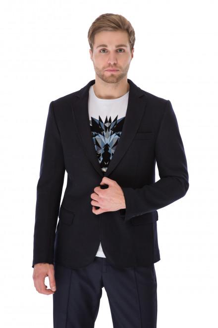Пиджак мужской однобортный темно-синий теплый Antony Morato