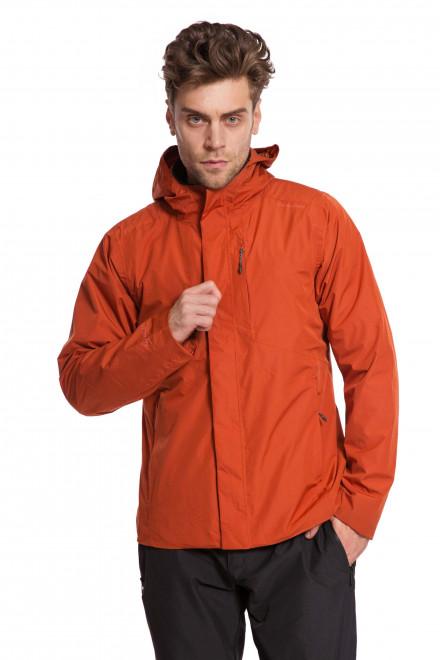 Куртка мужская (ветровка) на молнии с капюшоном оранжевого цвета Craghoppers
