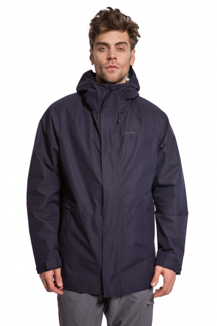 Куртка мужская на молнии с капюшоном темно-синего цвета Craghoppers