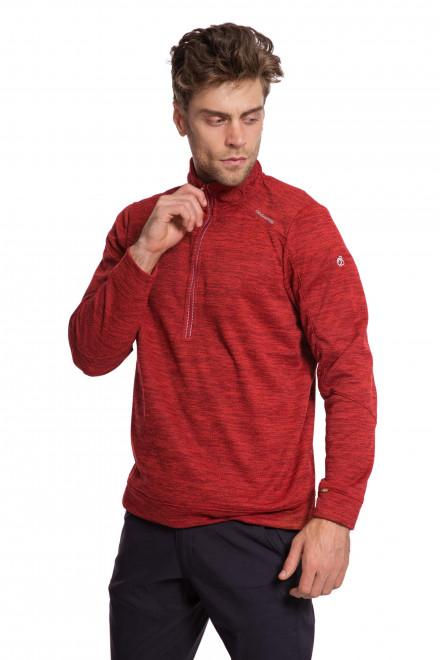 Пуловер мужской красного цвета с укороченной молнией Craghoppers