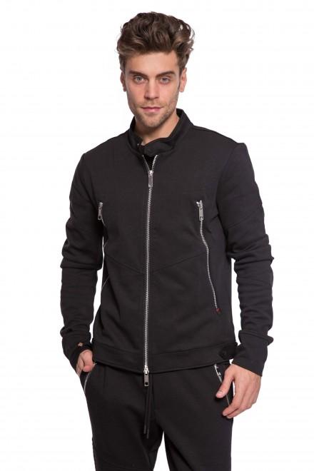 Пуловер мужской черного цвета на молнии Antony Morato