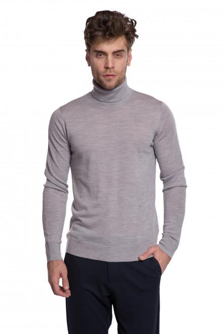 Пуловер мужской серого цвета из натуральной шерсти Junk de Luxe