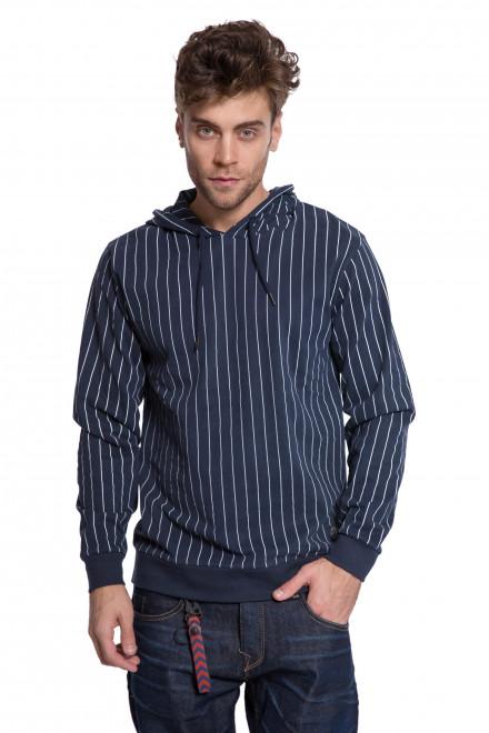 Пуловер мужской темно-синего цвета в тонкую полоску Shine Original