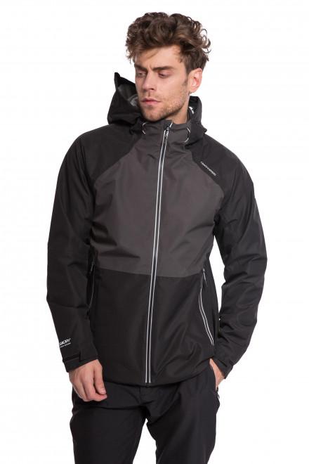 Куртка мужская (ветровка) черного цвета с серыми вставками на молнии Craghoppers