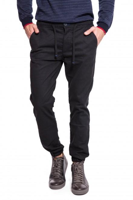 Штаны мужские трикотажные темно-серого цвета на шнурке North Sails