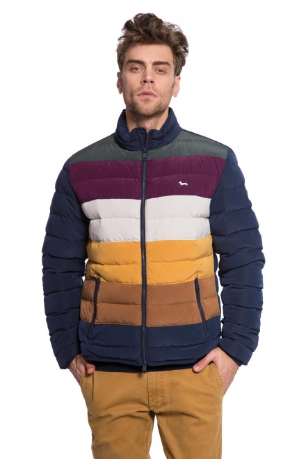 Куртка мужская стеганая колор блок с логотипом Harmont & Blaine