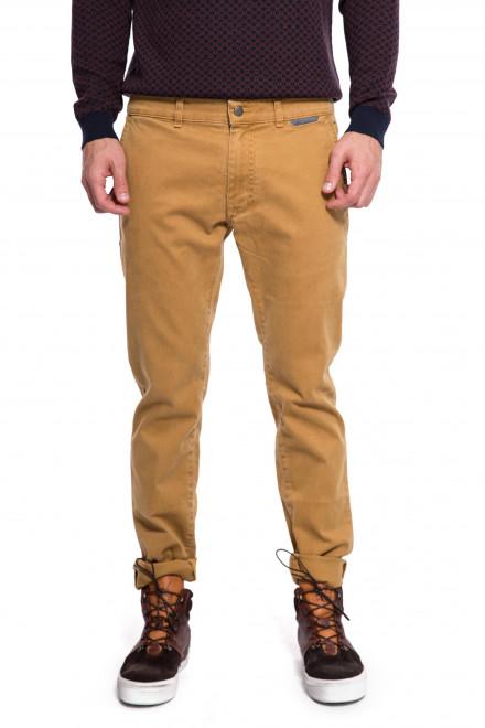 Штаны мужские светло-коричневые с логотипом Harmont & Blaine