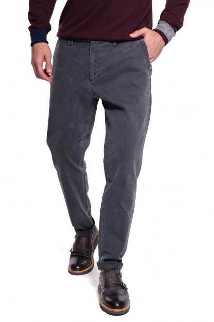 Штаны мужские темно-серые зауженные с логотипом Harmont & Blaine