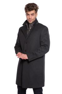 Пальто мужское комбинированное на молнии на молнии Schneiders