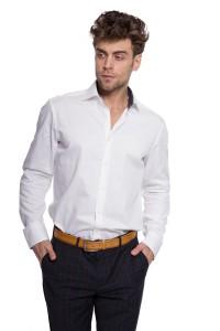 Рубашка мужская белого цвета из хлопка в деловом стиле van Laack