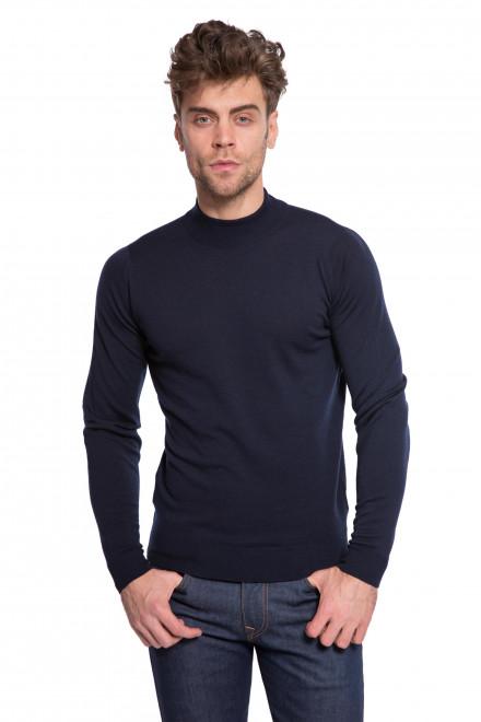 Пуловер темно-синий John Smedley