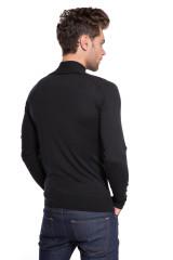 Пуловер мужской шерстяной черного цвета John Smedley