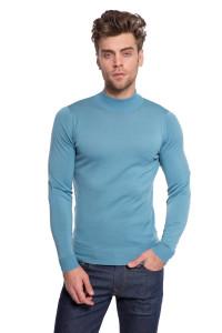 Пуловер мужской голубого цвета John Smedley