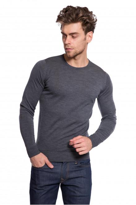 Пуловер серый John Smedley