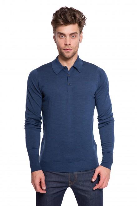Пуловер мужской синий John Smedley