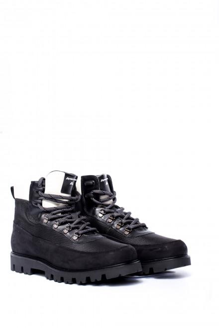 Ботинки мужские зимние черные кожаные Ambitious