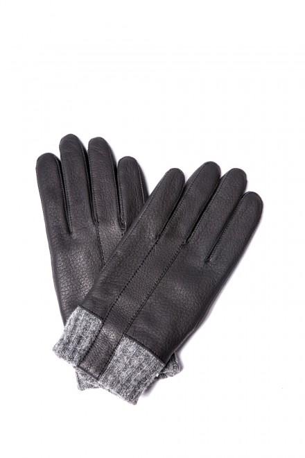 Перчатки мужские зимние кожаные с отворотом Otto Kesler