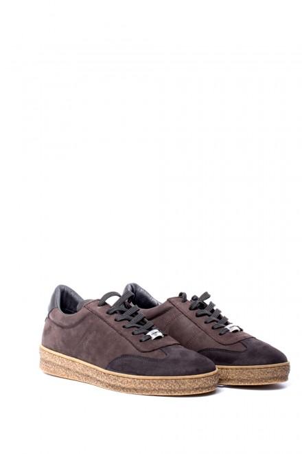 Туфли мужские спортивные замшевые светло-коричневые Ambitious