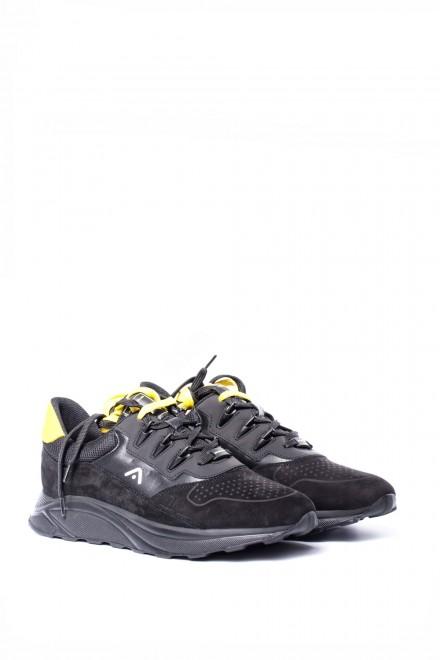 Туфли мужские (кроссовки) кожаные с замшевыми вставками спортивные Информация о кожаных мужских кроссовках Ambitious