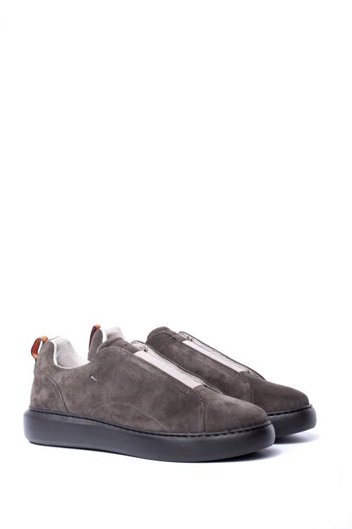 Туфли мужские спортивные замшевые светло-серые Ambitious