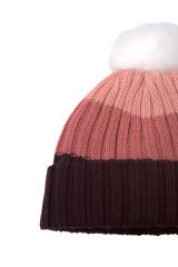 Шапка женская вязаная с помпоном трехцветная Craghoppers