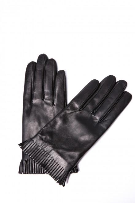 Стильные кожаные перчатки черные Otto Kesler