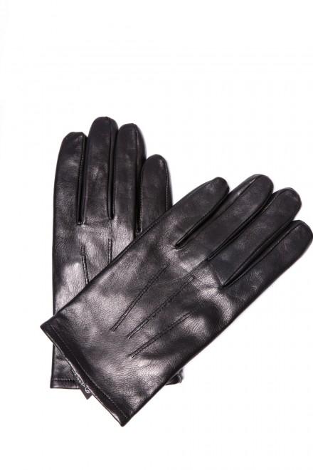 Перчатки мужские кожаные черные Otto Kesler