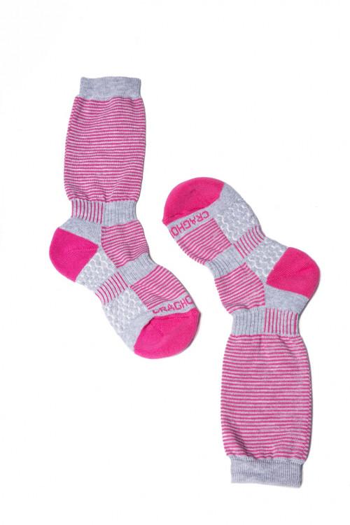 Носки женские длинные в геометрический принт розовые Craghoppers