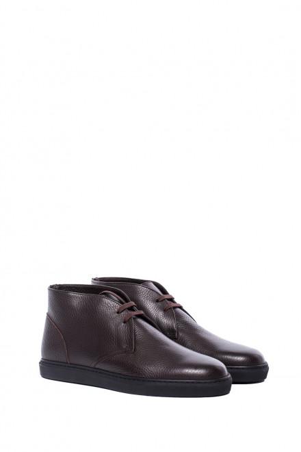 Ботинки мужские (чукка), темно-бордовые, Dn8 by Moreschi