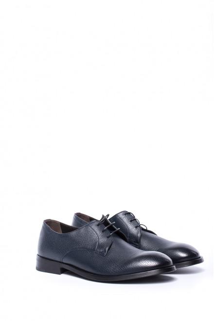 Туфли мужские (дерби) черного цвета Dn8 by Moreschi