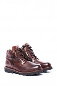 Ботинки мужские коричневые (мидл топ) Galizio Torresi