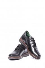 Туфли на шнуровке (сникеры) мужские черные со шнурками Galizio Torresi