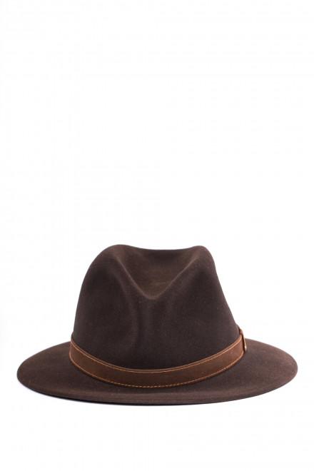Мужская шляпа коричневая Borsalino