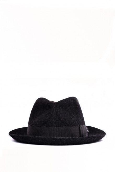 Шляпа мужская черного цвета Borsalino
