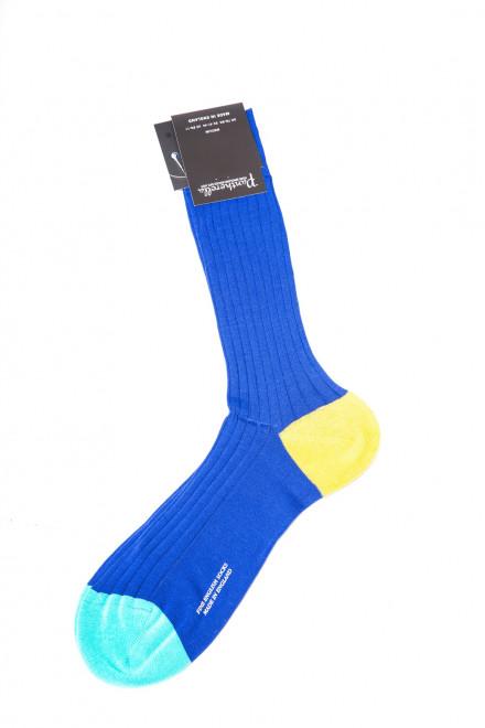 Носки мужские с контрастной пяткой и носком Portobello Pantherella