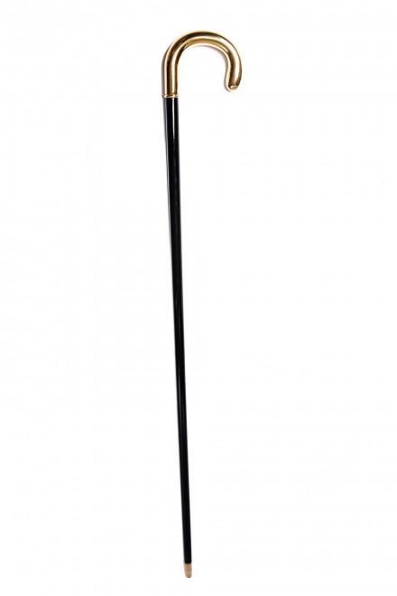 Трость мужская с ручкой золотистого цвета Pasotti