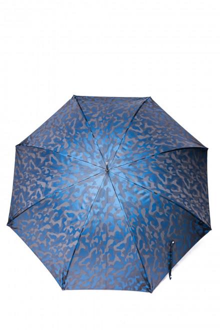 Зонт мужской синий с камуфляжным принтом Pasotti
