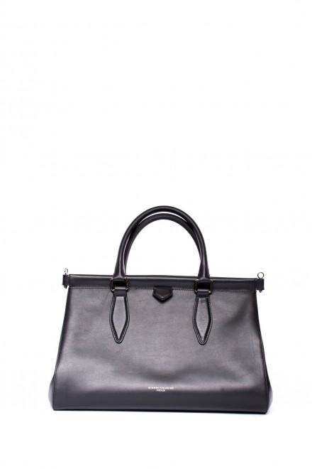 Кожаная черная сумка Gianni Chiarini