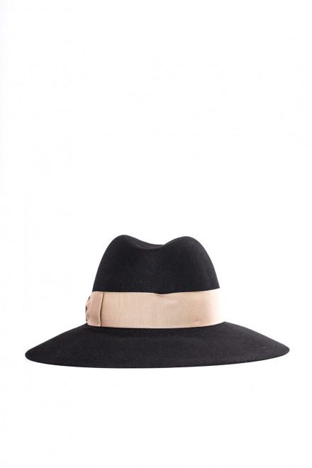 Шляпа женская черная Borsalino