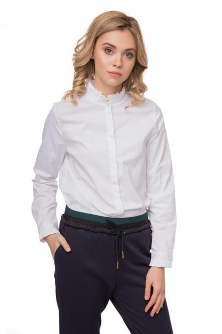 Блуза женская белая с воротником-стойкой Rich & Royal