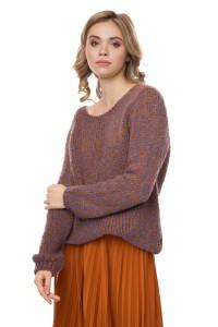 Пуловер женский вязаный с бантом Rich & Royal