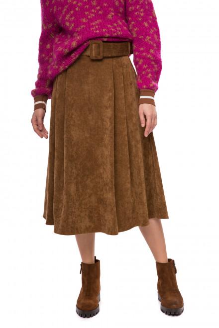 Вельветовая юбка женская с поясом Rich & Royal