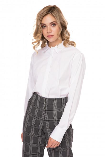 Блуза женская белая с длинным рукавом из хлопка Riani